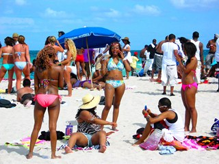 Cute Sexy Superfine Black Girls Enjoy the Beach Scene #2 - © 2012 Jimmy Rocker Photography