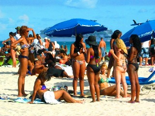 Group of Beautiful Black Girls in Sexy Bikinis on the Beach #2 - © 2012 Jimmy Rocker Photography