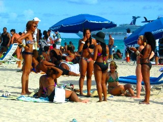 Group of Beautiful Black Girls in Sexy Bikinis on the Beach - © 2012 Jimmy Rocker Photography