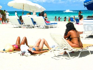 Outstanding Bikini Thong Babe Getting the Perfect Beach Tan #3 - © 2012 Jimmy Rocker Photography