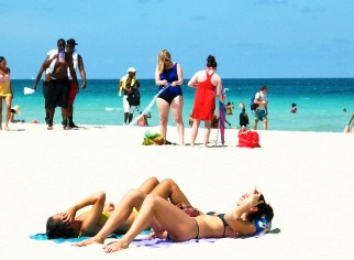 Two Beautiful Beach Girls Getting Tanned on the Beach #3 - © 2012 Jimmy Rocker Photography