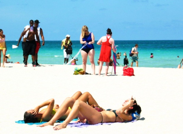 Two Beautiful Beach Girls Getting Tanned on the Beach #3 - Copyright © 2012 JiMmY RocKeR PhoToGRaPhY